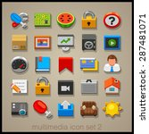 multimedia icon set. technology | Shutterstock .eps vector #287481071