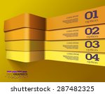 modern 3d yellow info graphics. ...