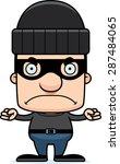 a cartoon thief man looking... | Shutterstock .eps vector #287484065