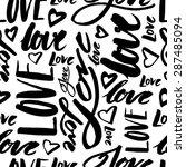 vector handmade lettering signs ... | Shutterstock .eps vector #287485094