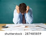 emotional stress  bankruptcy ... | Shutterstock . vector #287485859