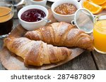 delicious breakfast with fresh... | Shutterstock . vector #287487809