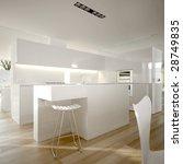 white modern minimalist kitchen ... | Shutterstock . vector #28749835