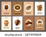 set of brochures with sweets.... | Shutterstock .eps vector #287499809