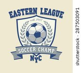 soccer football logo  sport cup ... | Shutterstock .eps vector #287503091