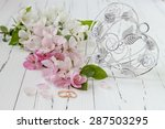 wedding rings with spring apple ... | Shutterstock . vector #287503295