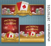 casino background  poster and... | Shutterstock .eps vector #287507231