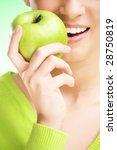 Young Beauty Woman With Apple...