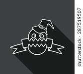 halloween flag flat icon with...   Shutterstock .eps vector #287519507