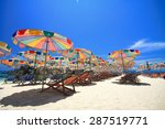 phuket beach with color... | Shutterstock . vector #287519771
