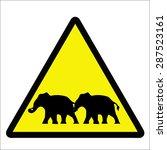 beware elephant | Shutterstock .eps vector #287523161