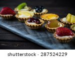 Mini Pastry Tartlets With Fres...