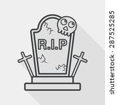grave flat icon with long... | Shutterstock .eps vector #287525285
