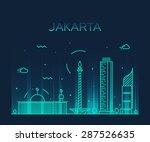 jakarta skyline  detailed... | Shutterstock .eps vector #287526635
