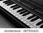 dirty piano keyboard | Shutterstock . vector #287531621