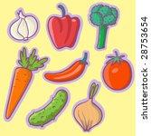 fresh vegetables   cartoon...   Shutterstock .eps vector #28753654