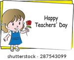 happy teacher's day | Shutterstock .eps vector #287543099