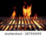Hot Empty Charcoal Bbq Grill...