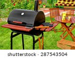 outdoor summer weekend bbq... | Shutterstock . vector #287543504