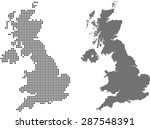 map of united kingdom | Shutterstock .eps vector #287548391