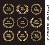 premium quality laurel wreaths... | Shutterstock .eps vector #287556125
