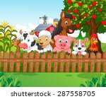 collection farm animals  | Shutterstock . vector #287558705