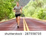 sport and fitness runner man... | Shutterstock . vector #287558735