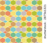 retro geometric hexagon pattern | Shutterstock .eps vector #287561321