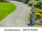 curved driveway to the building ... | Shutterstock . vector #287570309