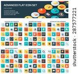 advanced web icon set | Shutterstock .eps vector #287577221