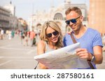 young couple travelling | Shutterstock . vector #287580161