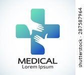 medical pharmacy logo design... | Shutterstock .eps vector #287587964
