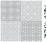 seamless pattern. collection of ... | Shutterstock .eps vector #287588261