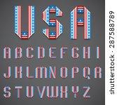 Full Alphabet Of Stylized...
