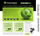 vector web site design template ...   Shutterstock .eps vector #28758922