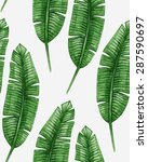 watercolor tropical palm leaves ... | Shutterstock .eps vector #287590697