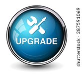 upgrade  button | Shutterstock .eps vector #287591069