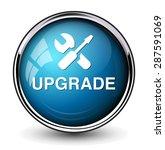 upgrade  button   Shutterstock .eps vector #287591069