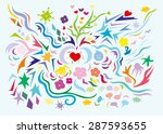 colored patterns on a white... | Shutterstock .eps vector #287593655