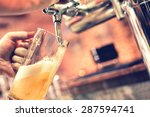 hand of bartender pouring a... | Shutterstock . vector #287594741