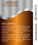 dark gold silver brown light... | Shutterstock .eps vector #287601971