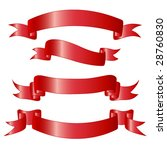 red danners. | Shutterstock .eps vector #28760830