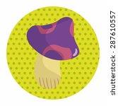 mushroom cartoon theme elements ... | Shutterstock .eps vector #287610557