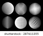 halftone sphere.halftone vector ... | Shutterstock .eps vector #287611355