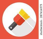 paint brush flat icon with long ...