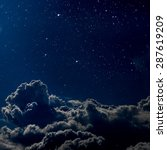 backgrounds night sky with... | Shutterstock . vector #287619209