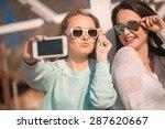 young beautiful girls taking...   Shutterstock . vector #287620667
