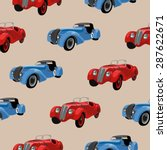 seamless pattern with retro ... | Shutterstock .eps vector #287622671