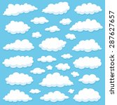 clouds | Shutterstock .eps vector #287627657