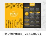 cafe menu restaurant brochure.... | Shutterstock .eps vector #287628731
